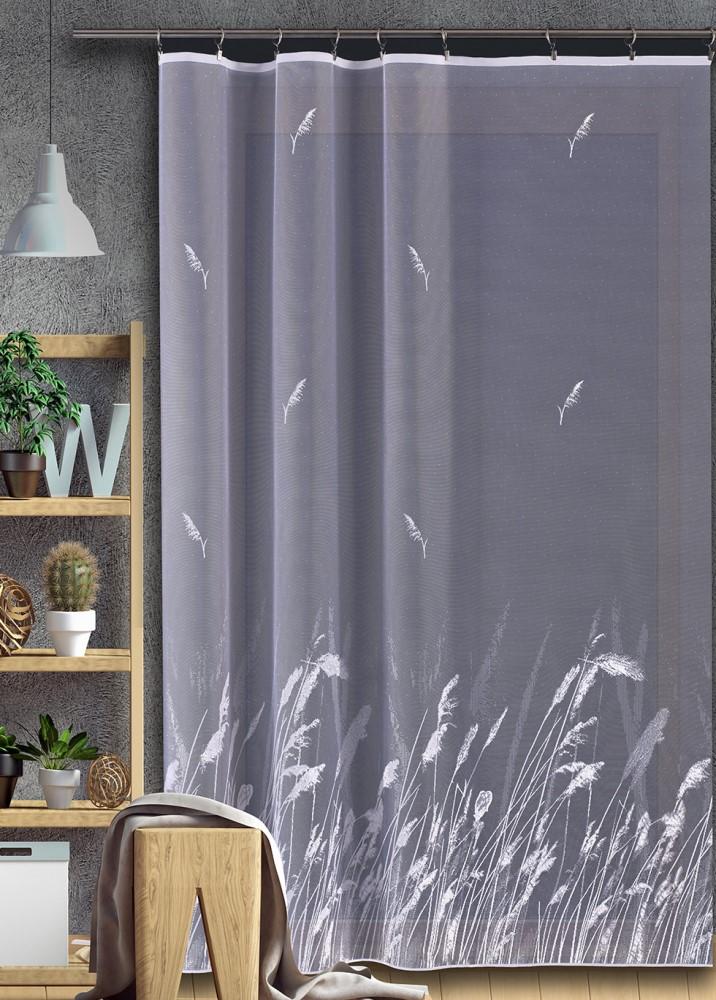 Metrážová záclona JIMI Textil M83 - kvetoucí tráva